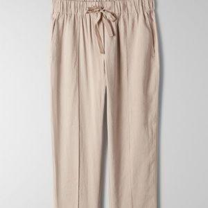 Babaton Tan Day Linen Pants